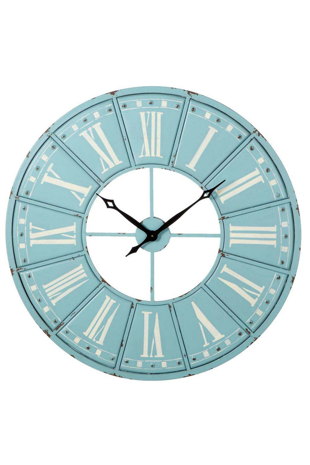 Statement Wall Clocks Midwest Cbk Blue Statement Clock From Canada By James