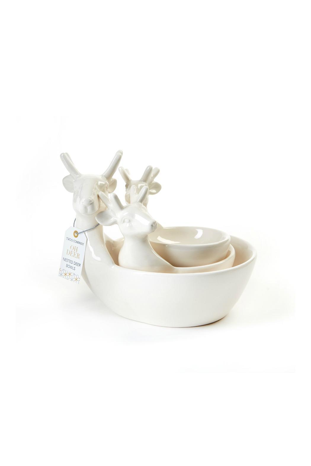 White Porcelain Deer Head Two 39s Deer Head Bowls From New York City By Recreateu
