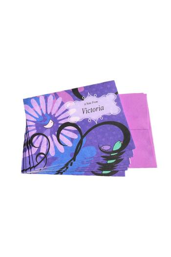 Under the Cherry Blossoms Purple Personalized Notecards from Florida