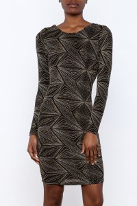 WTD Gold Knee Length Dress from New Jersey by SHE Boutique ...