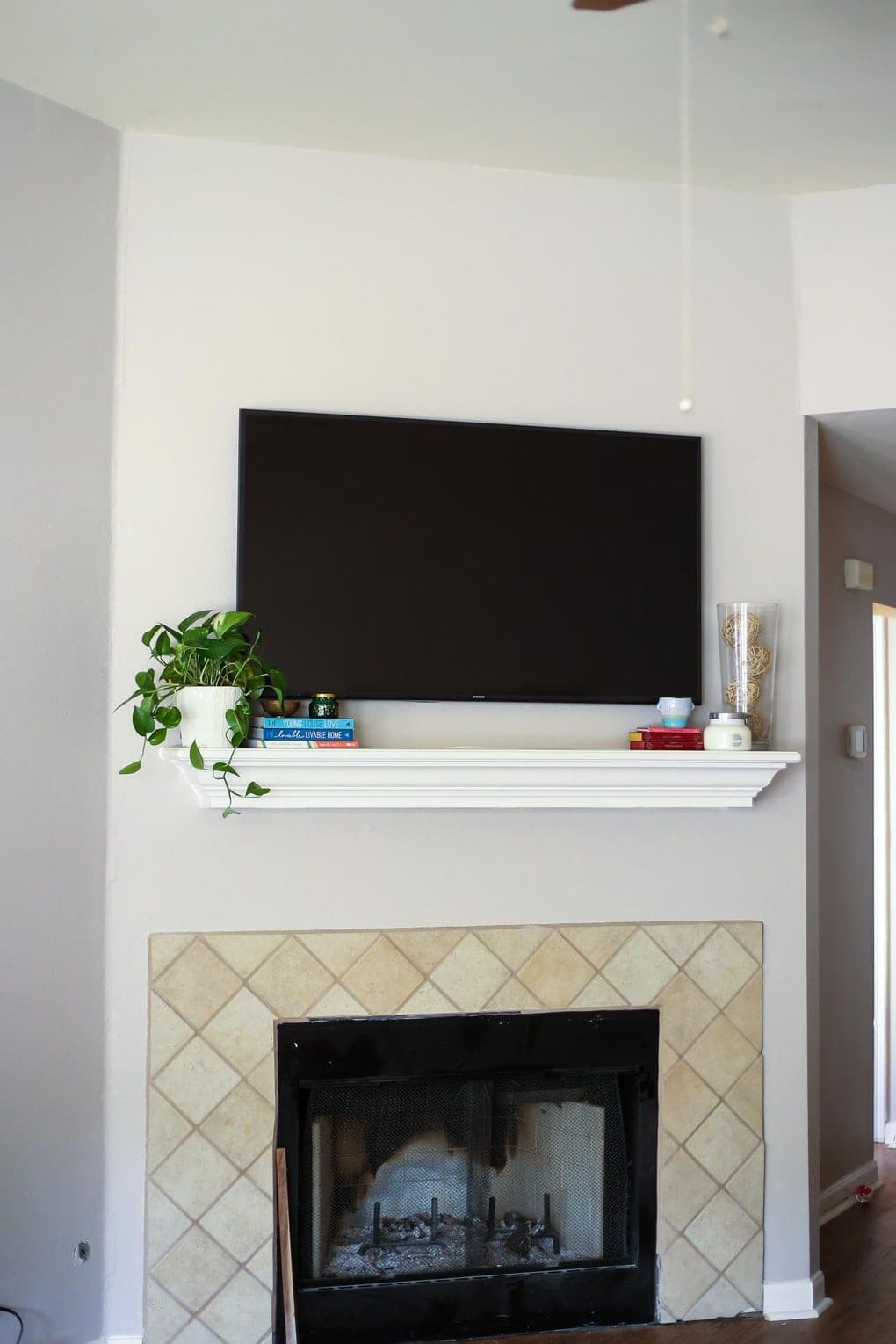 How To Decorate Fireplace 7 Tips For Decorating A Mantel With A Television Love Renovations