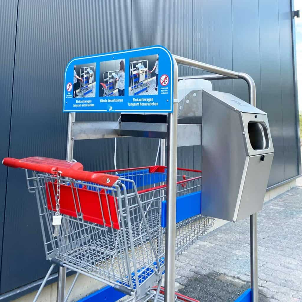 Cart Desi Shopping Cart Disinfection Cp Foodtec