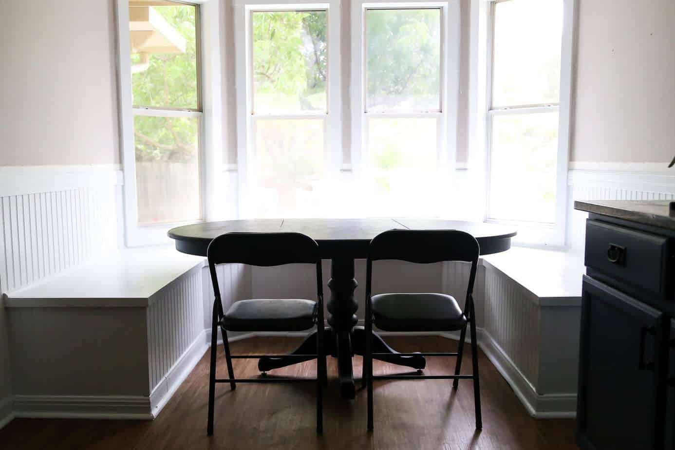 DIY Bay Window Bench (AKA: The Banquette is FINISHED!)