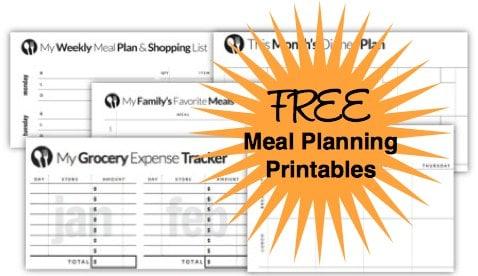 Free Menu Planning Templates