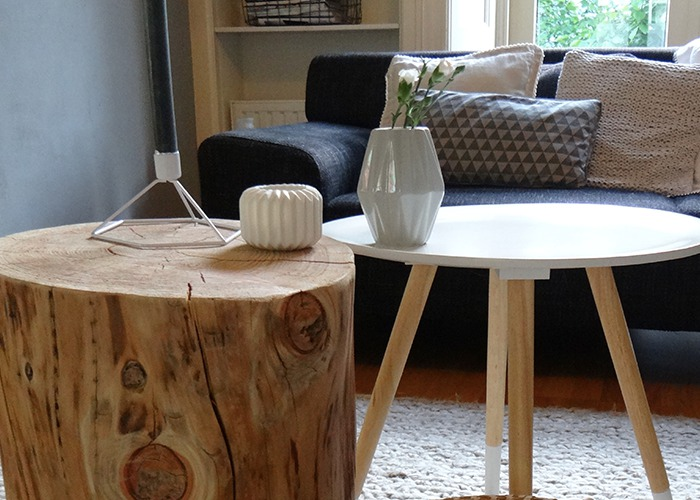 Salontafel Opknappen Boomstam Wordt Salontafel - Livelovehome