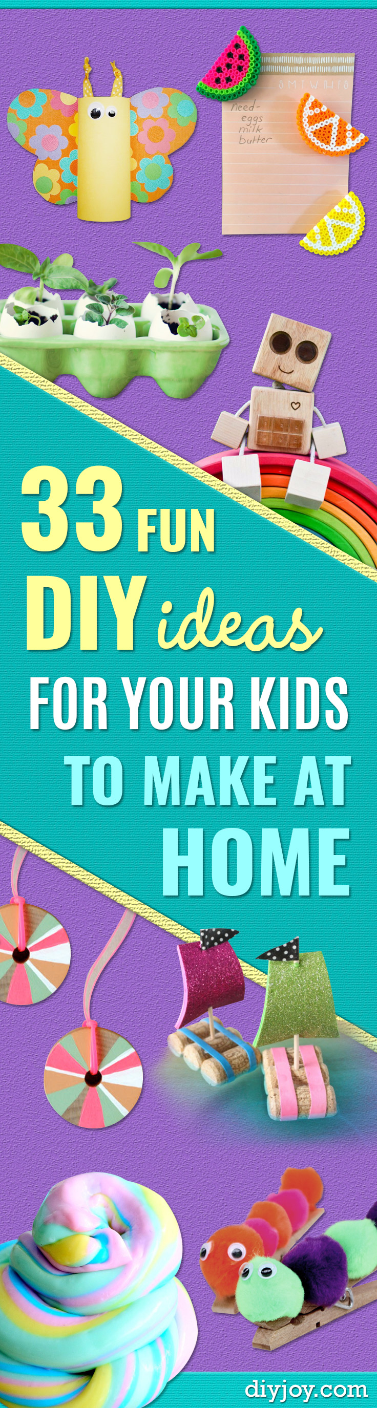 33 Diy Ideas For The Kids To Make At Home Easy Diy Kids Crafts