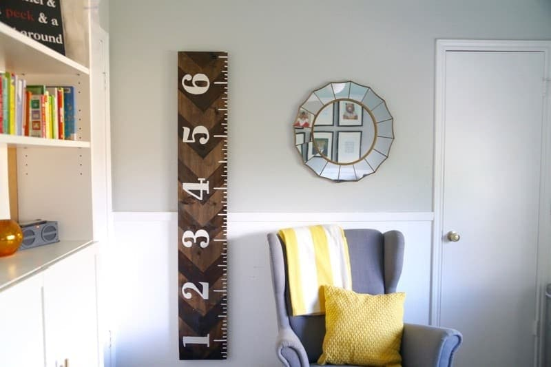 DIY Wooden Growth Chart (That Looks Like a Ruler!) - Love  Renovations