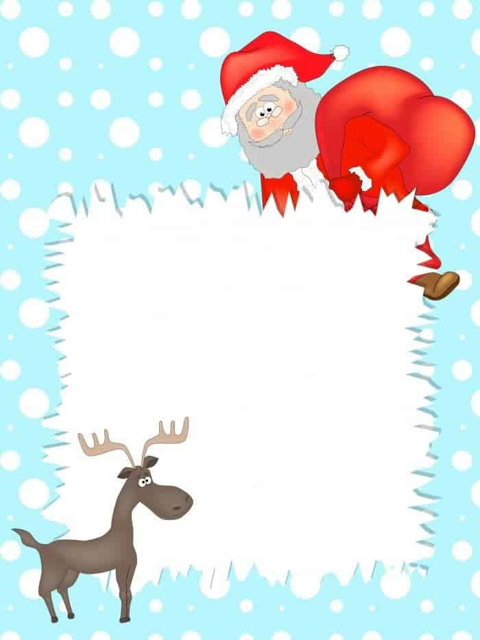 Free Printables} Letter to Santa templates and how to get a reply