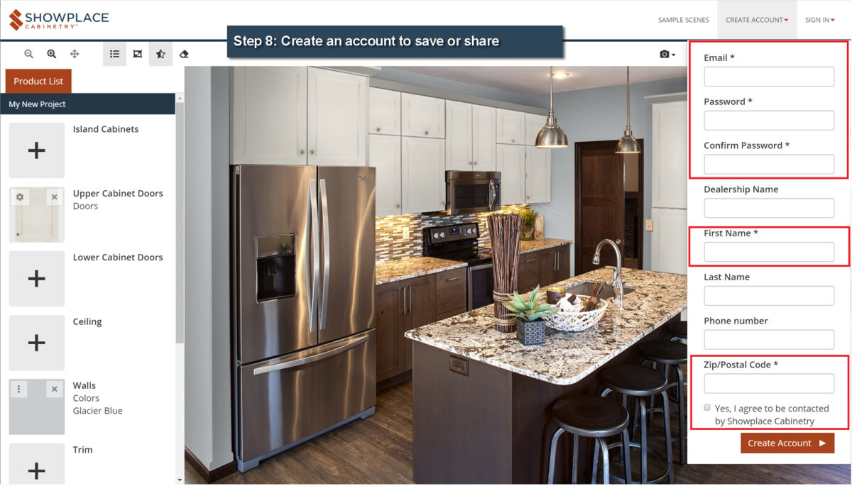 Kitchen Cabinet Design Visualizer Showplace Cabinetry