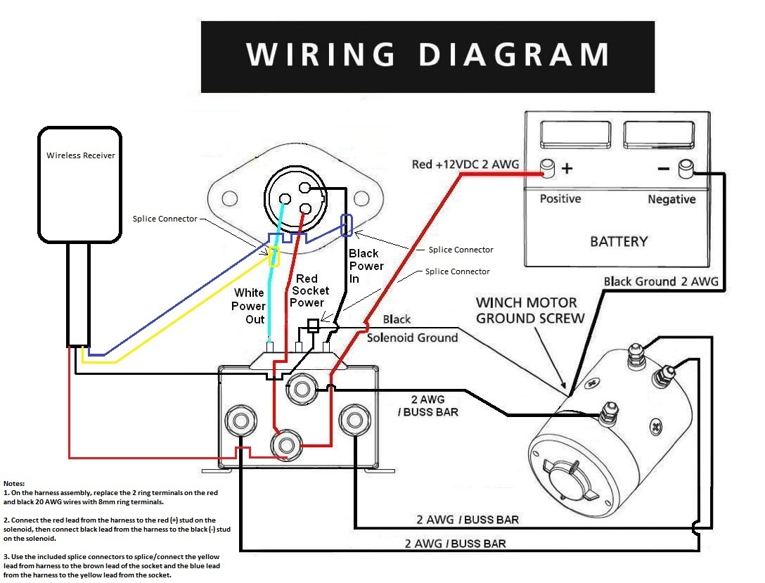 atv winch wiring and remote