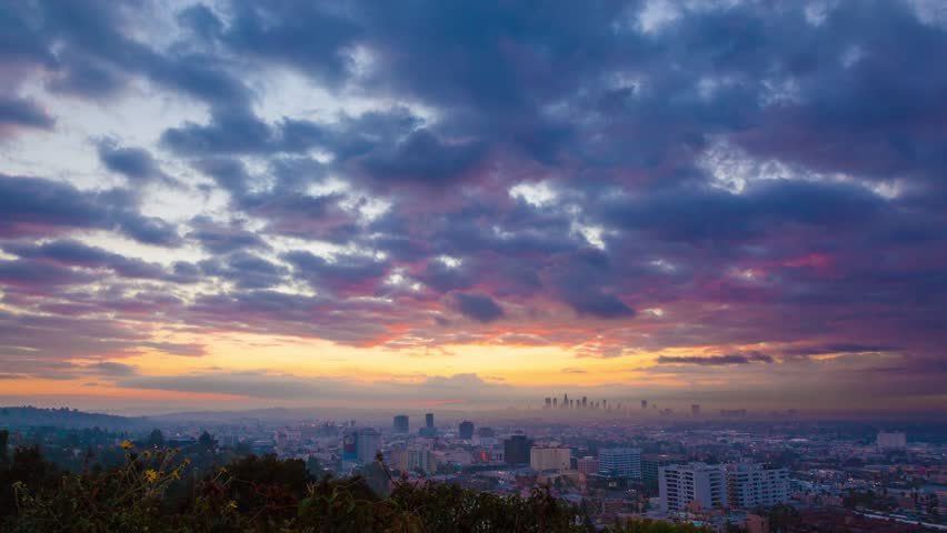 3d Moving Wallpaper Download For Windows 7 Beautiful Sunrise Over Los Angeles Timelapse Stock