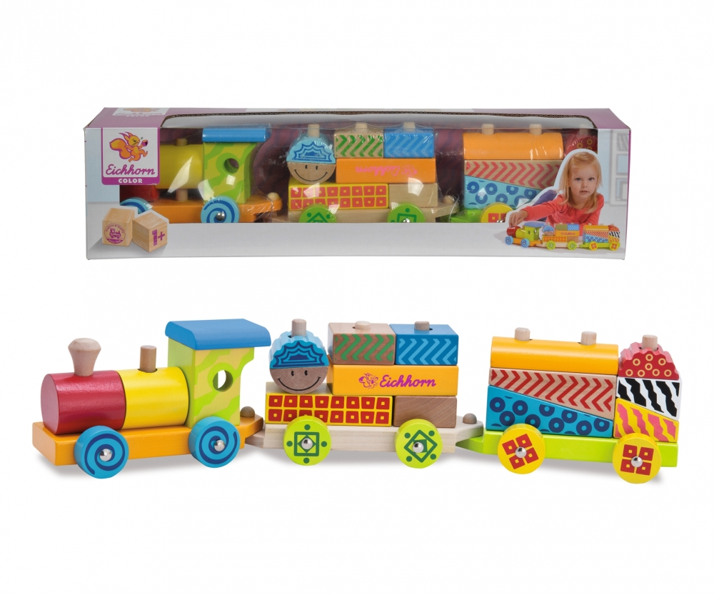 Eichhorn Küchenzubehör Eichhorn Color Wooden Train Motor Skills Activity Products