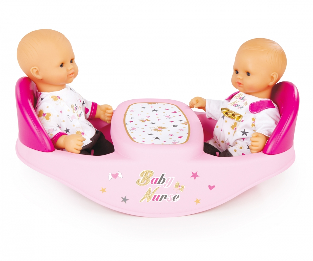 Bn Twin Highchair Baby Nurse Doll Accessories