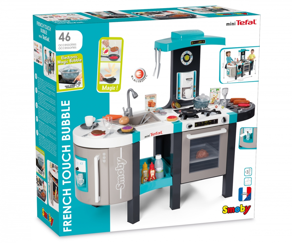 Smoby Tefal French Touch Bubble Küche Mit Wasserfunktion Tefal French Touch Bubble Küchen Zubehör Rollenspiel