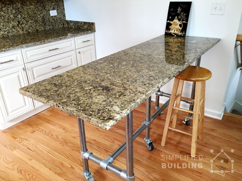 Granite Top Kitchen Island Table How To Attach A Table Top To Our Frames - Simplified Building