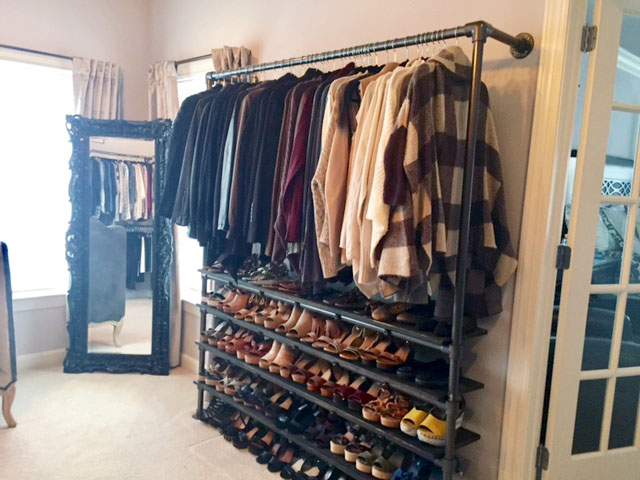 Diy Closet System Built With Pipe Fittings Plans