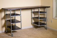 Industrial Pipe Desk & Shelving Plans | Simplified Building