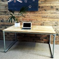 DIY Plywood Desk with Pipe Frame: Plans to Build Your Own ...