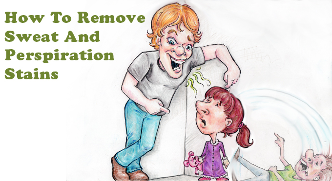 How To Remove Sweat And Perspiration Stains - Simply Good Tips