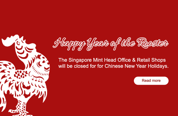 The Singapore Mint Chinese New Year Holiday Announcement - holiday closure sign template