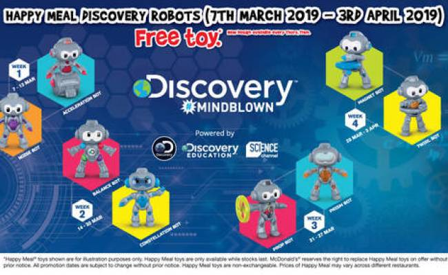 Mcdonald S Get A Free Discovery Robots Toy Or Treetop