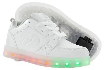 Heelys Premium 1 Lo White Shoes With Wheels - Skates