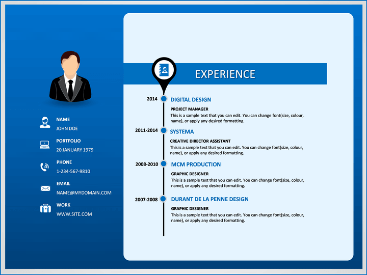 google slides cv template