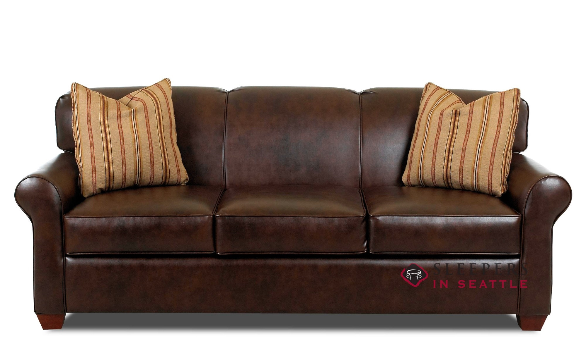 Couches Sleeper Savvy Calgary Leather Queen Sleeper Sofa