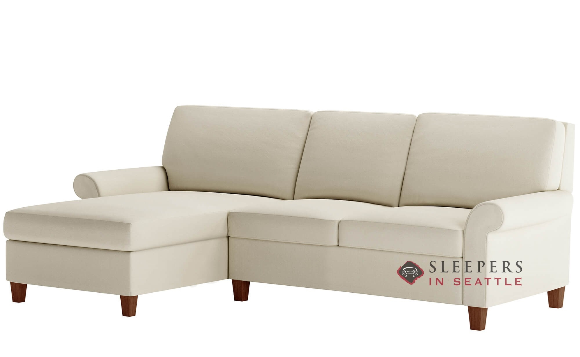 Sofa Queen American Leather Gibbs High Leg Leather Queen Plus With Chaise Sectional Comfort Sleeper Generation Viii