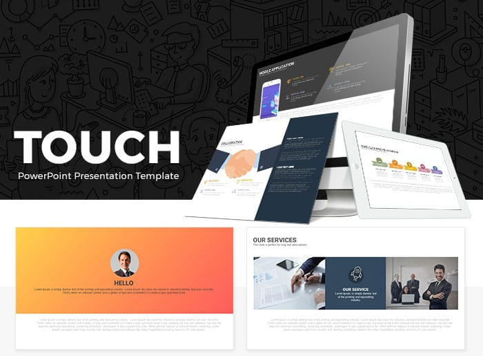 Touch Free PowerPoint Presentation Template - SlideCompass