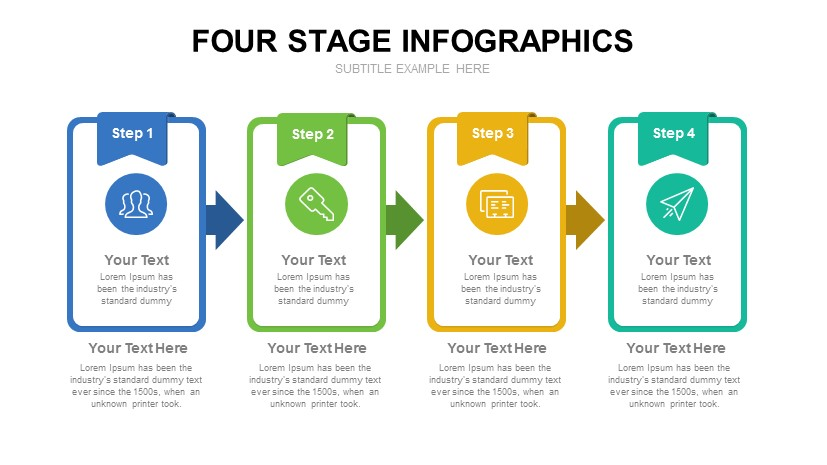 4 Step Growth Concept PowerPoint Template - SlideCompass