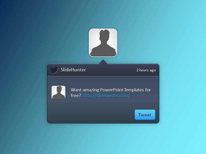 Free Twitter PowerPoint Template - twitter template