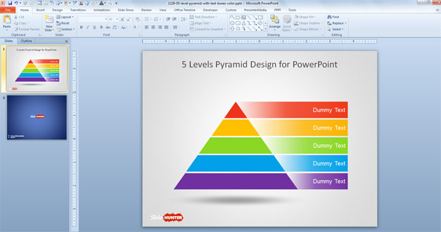 Free 5 Level Pyramid Template for PowerPoint - Free PowerPoint - pyramid template