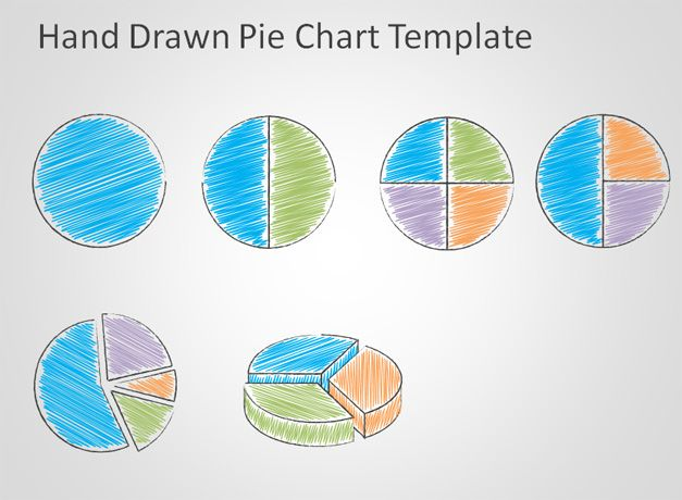 Free Hand Drawn Pie Chart Template for PowerPoint - Free PowerPoint - pie chart templates