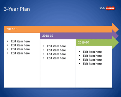Free 3-Year Plan Template for PowerPoint - Free PowerPoint Templates - SlideHunter.com