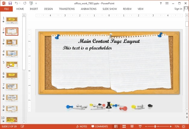 Office  School Work 3D Animated PowerPoint Template