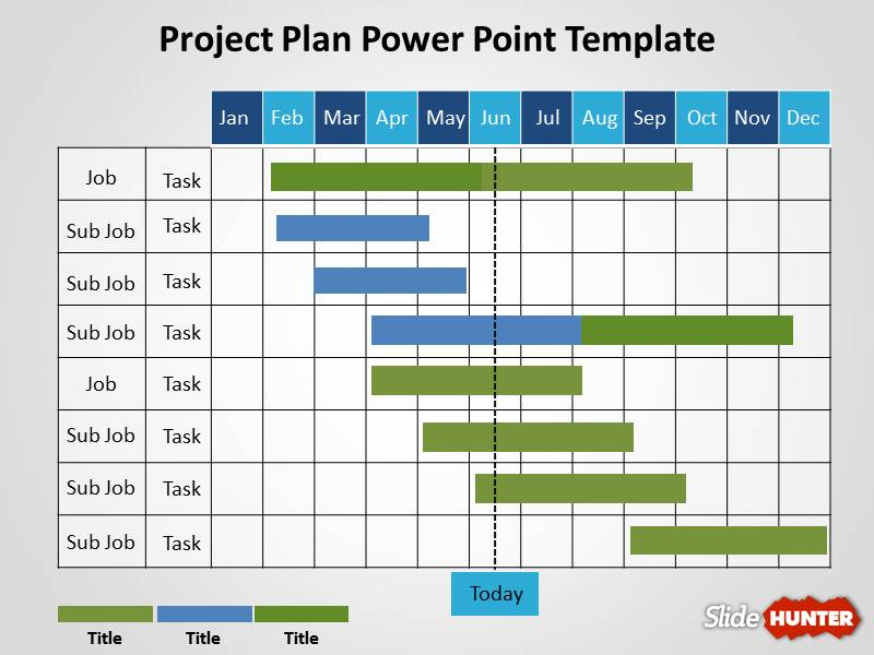 Free Project Plan PowerPoint Template - project plan ppt template