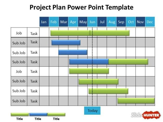 Powerpoint Project Schedule Template Free Project Plan Powerpoint - project schedule management plan template