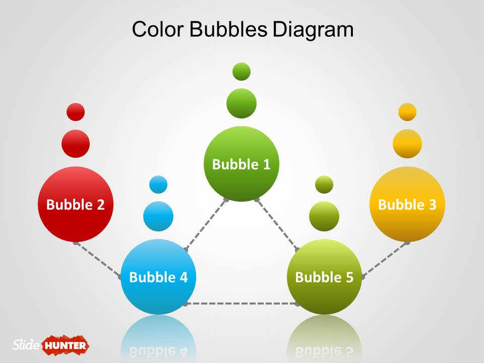 Free Simple Bubbles Diagram for PowerPoint - bubbles power point