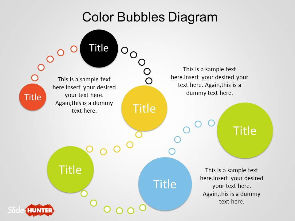 Color Bubble Diagrams for PowerPoint - bubbles power point