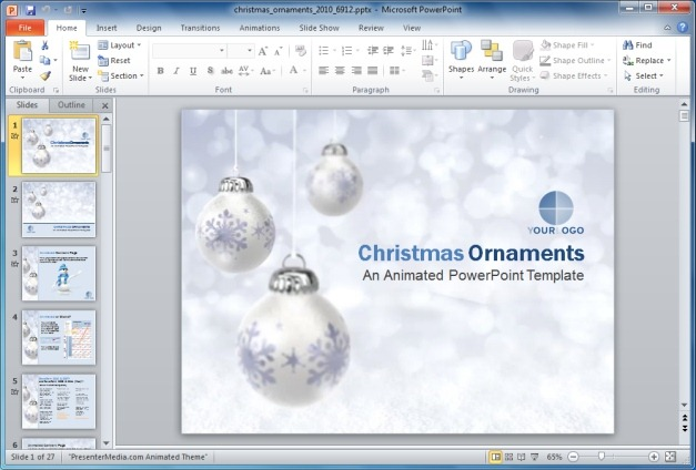 Best Free And Premium Christmas PowerPoint Templates - christmas powerpoint template