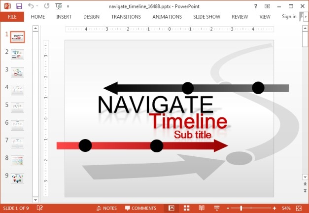 Animated Custom Timeline Template For PowerPoint - powerpoint timeline