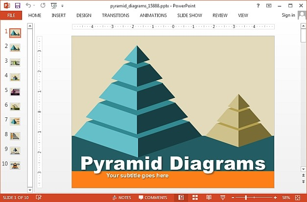 Animated Pyramid Diagrams Template For PowerPoint - diagrams template