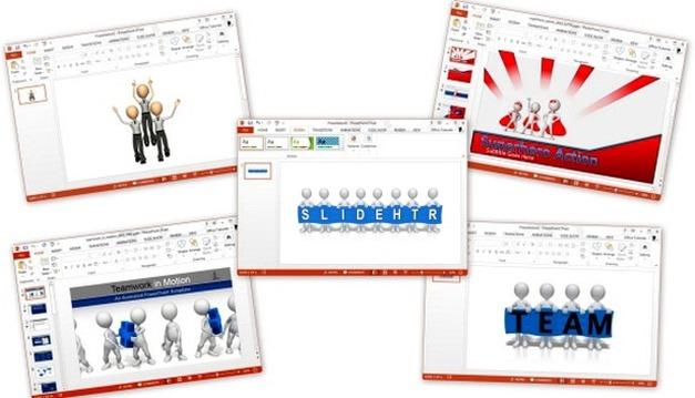 Animated Teamwork Templates For PowerPoint Presentations - teamwork powerpoint