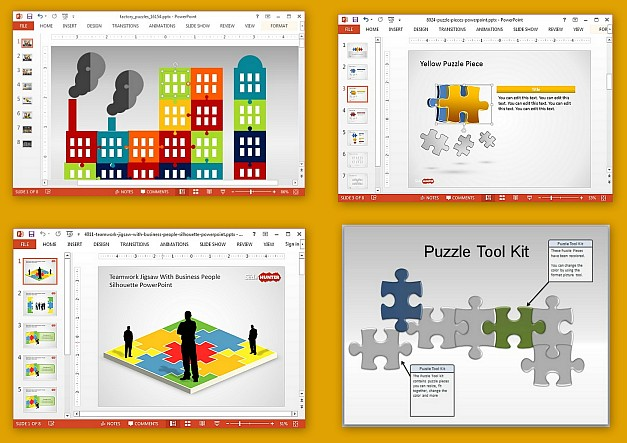 Best Jigsaw Puzzle Templates For PowerPoint - puzzle powerpoint template