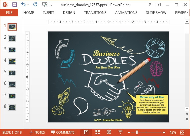 Animated Doodle Timeline PowerPoint Template