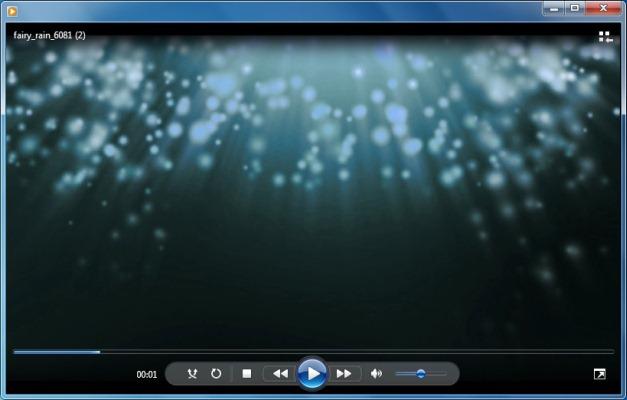 Animated Falling Fairy Rain PowerPoint Template