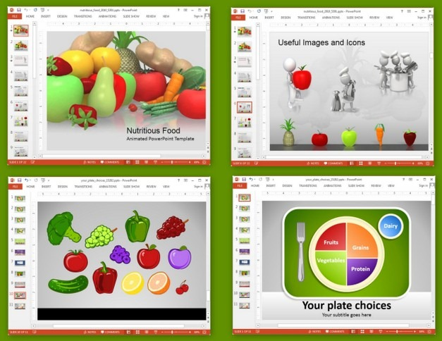 Animated Nutrition Presentation Templates For PowerPoint