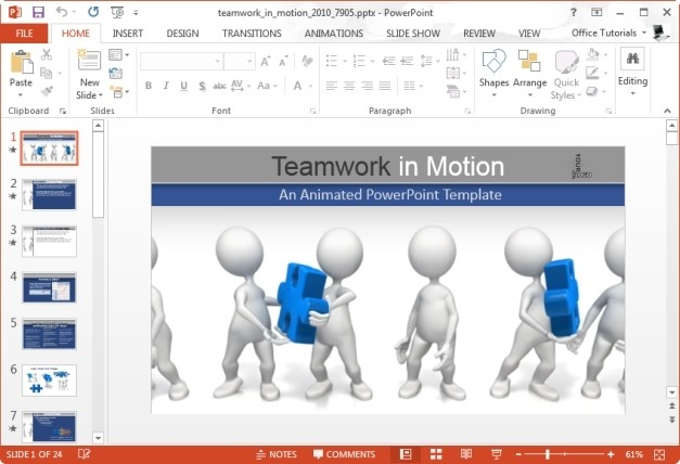 Animated Teamwork Templates For PowerPoint Presentations