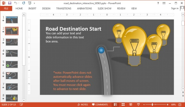 Animated Roadmap PowerPoint Template